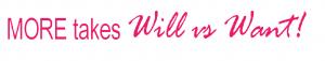 Will vs want